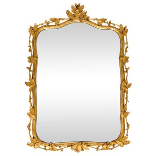 Milch & Son Gilded Oak Leaf Mirror For Sale