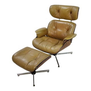 Mid Century Plycraft Mid-Century Lounge Chair & Ottoman - 2 Pieces For Sale