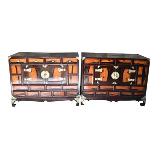 Antique Asian Style Side Chests - a Pair For Sale