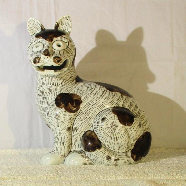 Ceramic Rockefeller Collection of Mottahedeh Kang Hsi Cat For Sale - Image 7 of 7