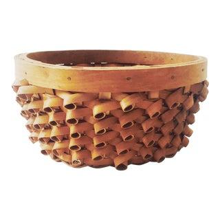 Vintage Curly Plant Basket