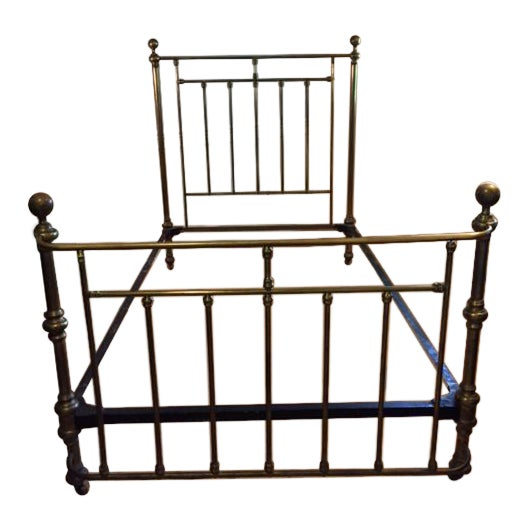 Circa 1880 Antique Brass Bed - Image 1 of 3