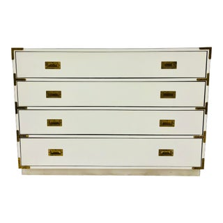 Vintage Campaign Style Dresser Chest For Sale