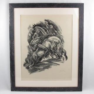 Adolf Uzarski Charcoal Drawing Lithograph Preview
