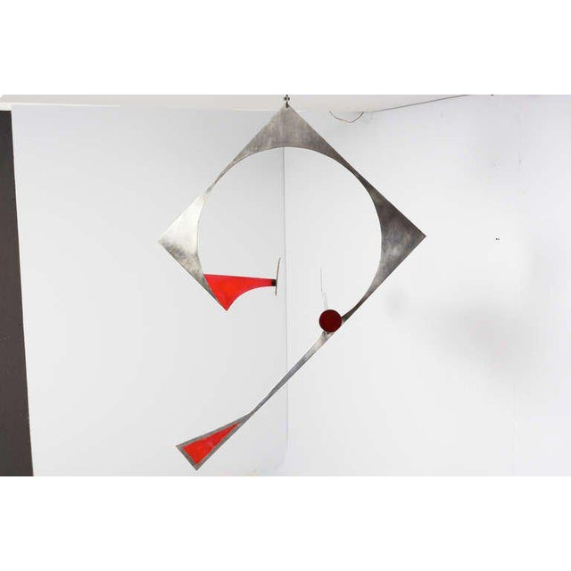 Modern Stainless Steel Hanging Mobile Sculpture For Sale - Image 3 of 10