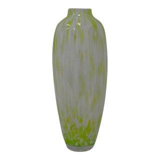 Hand Blown Polish Vase w/ Green Glass