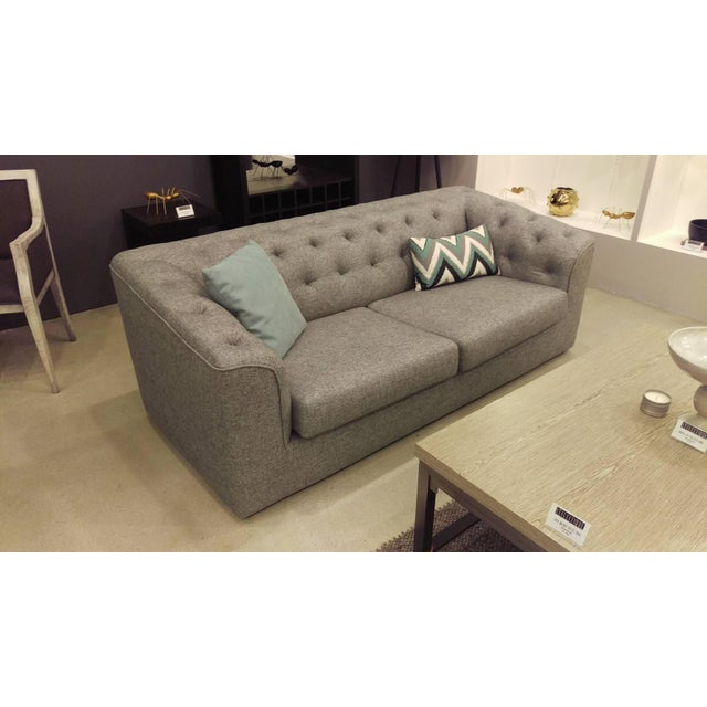 Charcoal Button Back Sofas - A Pair - Image 4 of 5