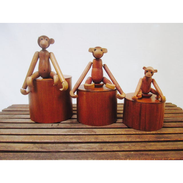 Danish Modern Teak Canister Set - Image 6 of 11