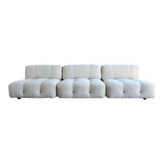 Mid-Century Modern Mario Bellini 'Camaleonda' White Wool Modular Sofa - 3 Pieces