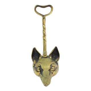Antique Brass Fox Door Stop For Sale