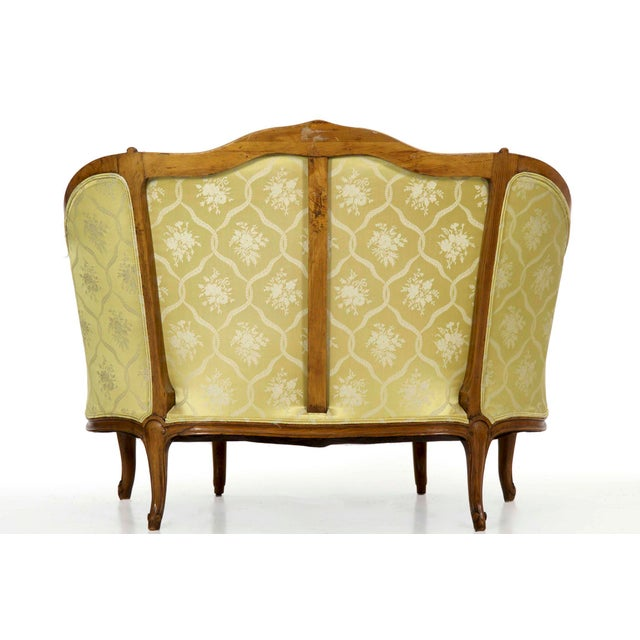 19th Century French Antique Canapé Sofa Settee in Louis XV Style For Sale - Image 4 of 13
