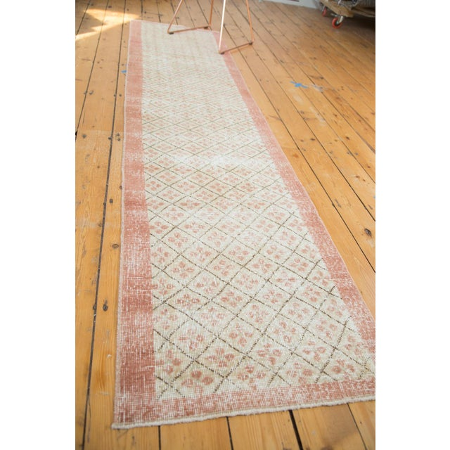 "Vintage Distressed Oushak Runner- 2'3"" x 9'6"" - Image 2 of 7"