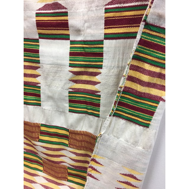 """African Tribal Vintage Textile Throw - 41"""" x 79"""" - Image 4 of 11"""
