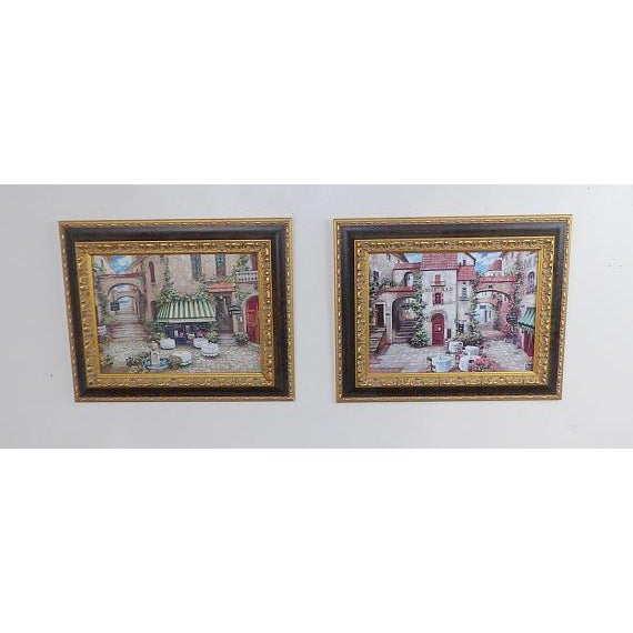 Italian Trattoria Framed Art Prints - A Pair For Sale In Sacramento - Image 6 of 6