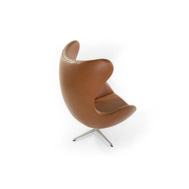 Metal Arne Jacobsen for Fritz Hansen Egg Chair and Footstool, Denmark, 1966 For Sale - Image 7 of 13