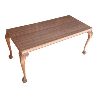 Laminate Top Chippendale Style Coffee Table