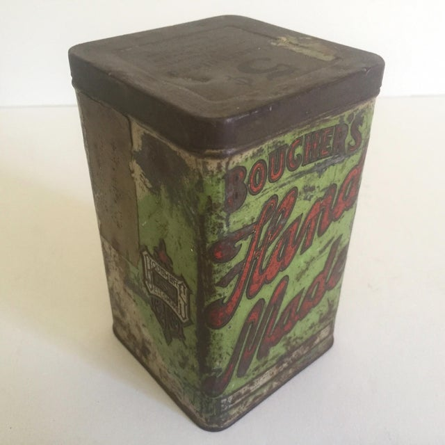 "Vintage Early 1900's ""Boucher's Handmade"" Tobacco Tin Box For Sale - Image 4 of 11"