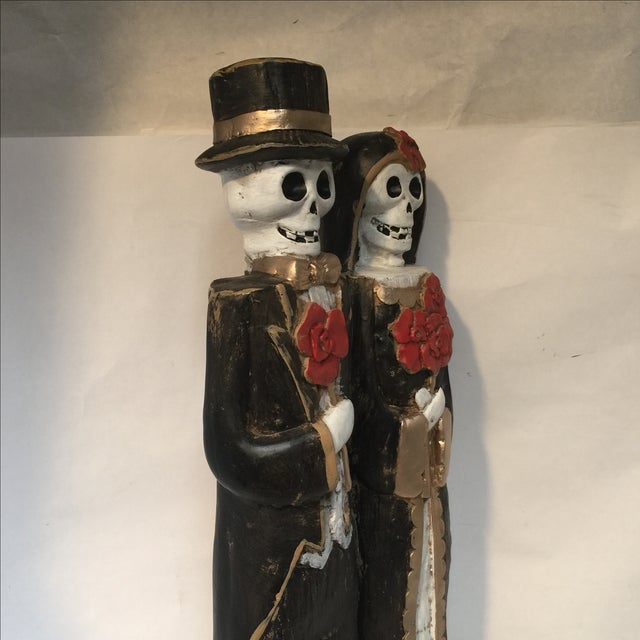 Day of the Dead Bride & Groom Figurine For Sale - Image 4 of 8