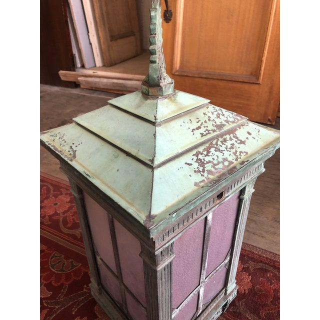 1910s Neoclassical Copper Lantern For Sale In Los Angeles - Image 6 of 13
