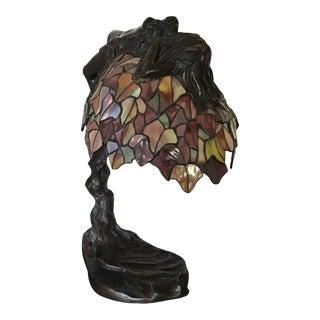 Original E Thomasson Art Nouveau Bronze Daphne Lamp For Sale