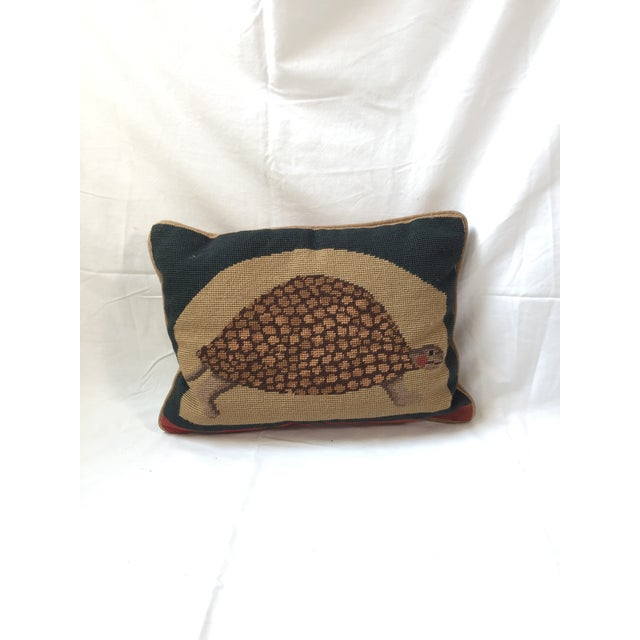 Needlepoint Turtle Accent Pillow - Image 2 of 6