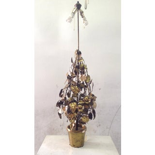 Large Brass Fruit Tree Lamp by Curtis Jere Preview