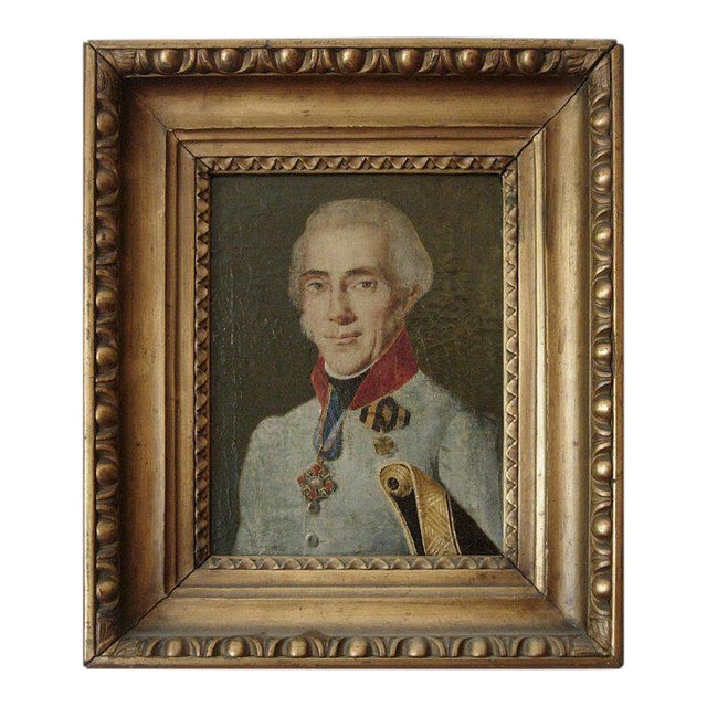 19th Century Portrait of a French Officer For Sale - Image 4 of 4
