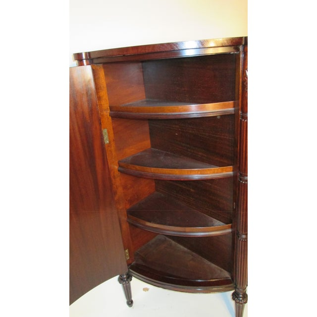 Wood Joseph Gerte of Boston Tall Demi Lune Chest For Sale - Image 7 of 10