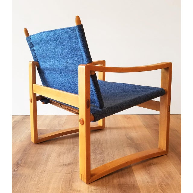 Newly-Upholstered Borge Jensen Danish Safari Sling Chairs - a Pair For Sale In Seattle - Image 6 of 10
