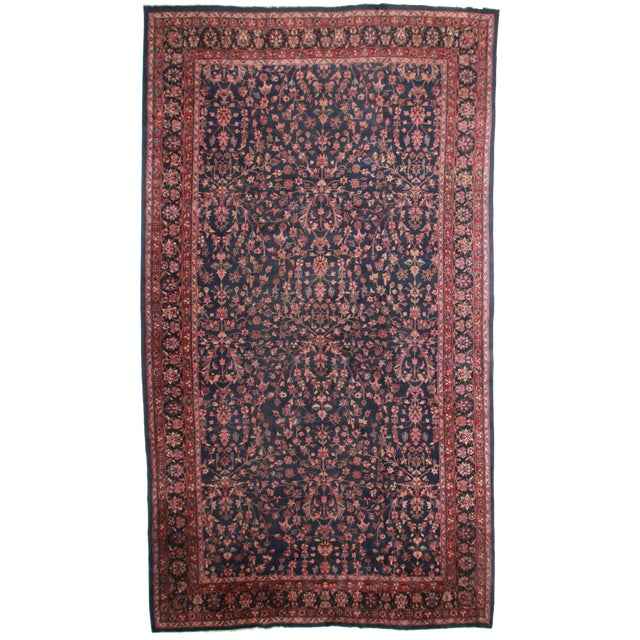 "RugsinDallas Hand Knotted Wool Turkish Rug - 10'8"" X 18'11"" For Sale"