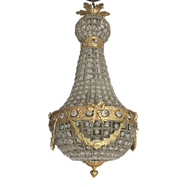 Empire Chandelier With Brass Detail - Image 1 of 6