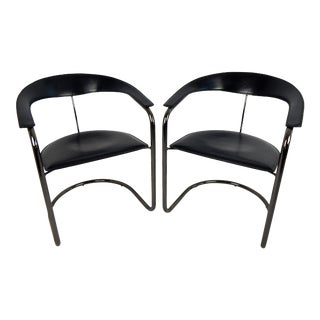 Arrben Italy Canasta Cantilever Chairs, a Pair For Sale
