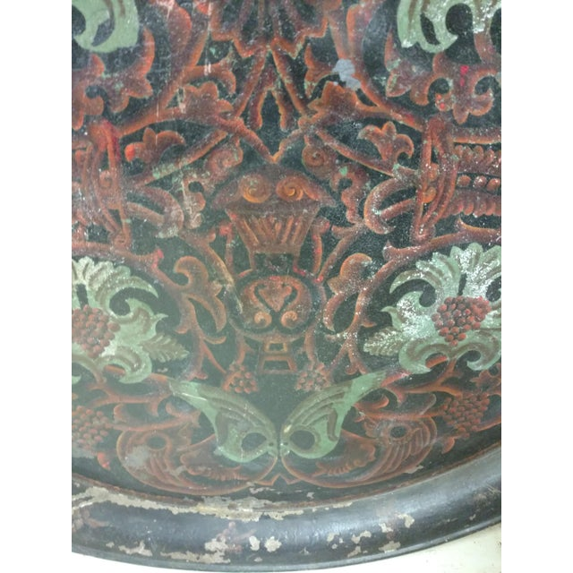 Antique Anglo Indian Huge Festival Wedding Tray For Sale - Image 4 of 9