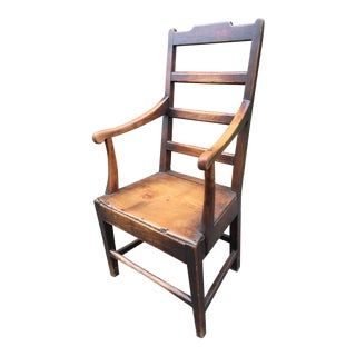 Early 18th Century Vintage English Early Georgian Arm Chair For Sale