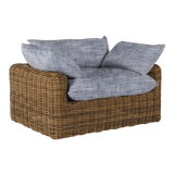 Image of Summer Classics Montecito Lounge in Faded Linen Indigo For Sale