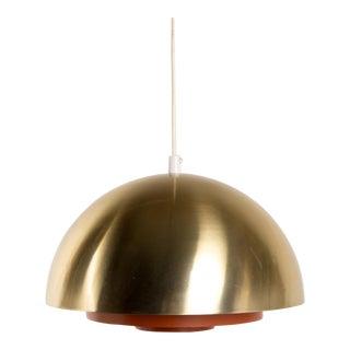 1960s Danish Mid-Century Brass Milieu Pendant by Jo Hammerborg for Fog & Mørup For Sale