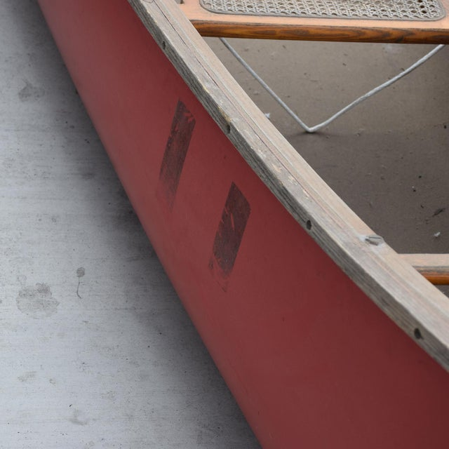 Mid-Century Modern Old Town Red Canoe Kayak For Sale - Image 4 of 8