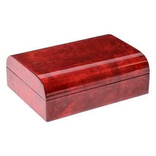 Rare Italian Aldo Tura Red Goatskin Coffee Table Box C.1965