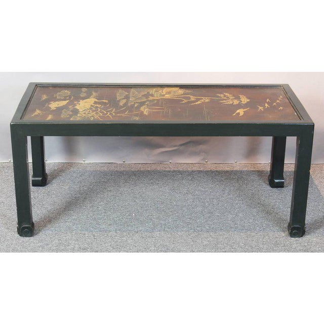 Chinoiserie Chinoiserie Lacquered Cocktail Table For Sale - Image 3 of 11