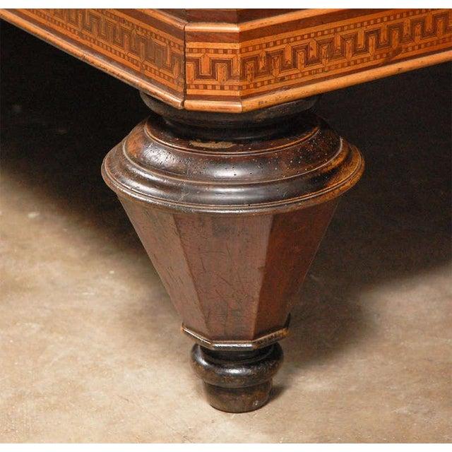 Mid 19th Century 1860s Italian Carom Mahogany Billiard Table With Inlay For Sale - Image 5 of 12