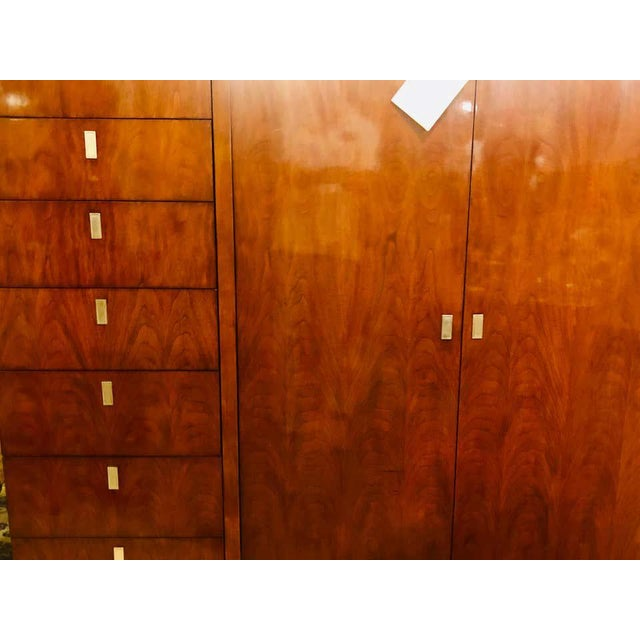 Walnut Ralph Lauren Modern Hollywood Armoire Linen Press Entertainment Unit For Sale - Image 10 of 13