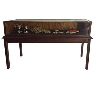 Custom Mahogany Display Case or Vitrine for Collections or Artifacts For Sale