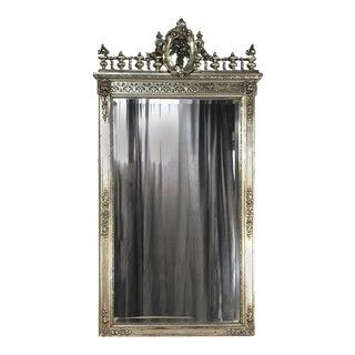 Napoleon III Period French Silver Gilt Mirror For Sale