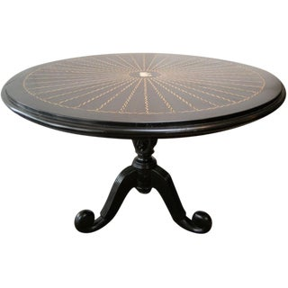 19th C. Anglo Indian Center Table For Sale