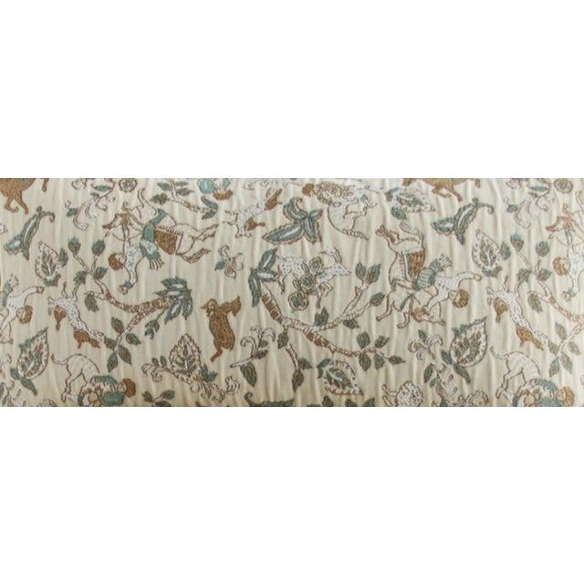 Embroidered Folk Art Lumbar Pillows - a Pair - Image 2 of 2