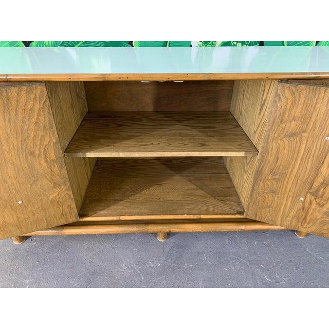 Brown Polynesian Tiki Style Rattan Dresser For Sale - Image 8 of 11
