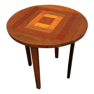 1960s Vintage Walnut Side Table For Sale