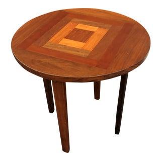 1960s Vintage Walnut Side Table For Sale