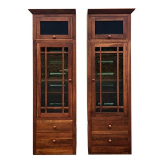 Ethan Allen Solid Cherry American Impressions Bookcases- a Pair For Sale