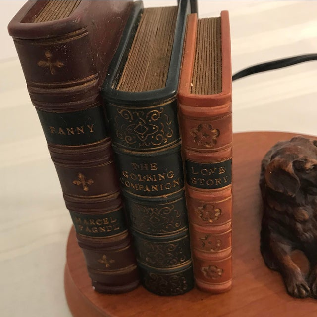 Dog and Book Collection Desk Lamp - Image 8 of 10